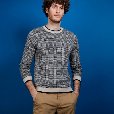 Heavy cotton sweater with patterns - Dubai