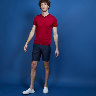Short sleeve polo shirt in Fil Lumière - Babar