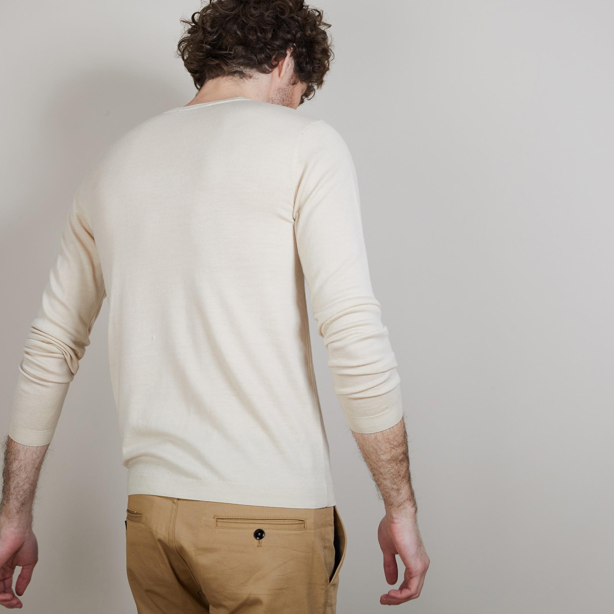 Pull col V en 100% laine mérinos Badyss
