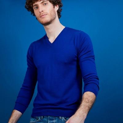 Merino wool V-neck sweater - Badyss