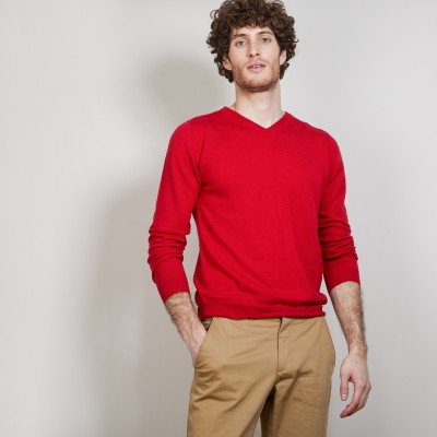 V-neck sweater in cashmere and linen - Banderas