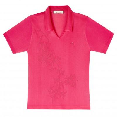 T-shirt manches courtes motif fleurs Donna