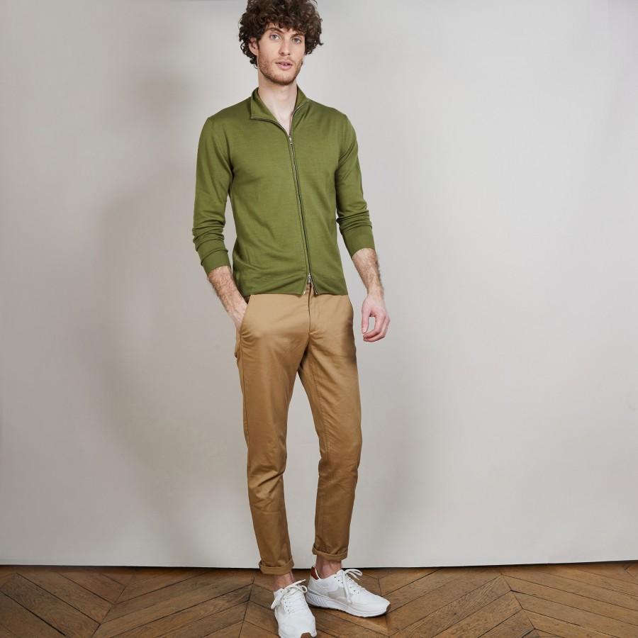 Gilet zippé en 100% laine mérinos - Bastian