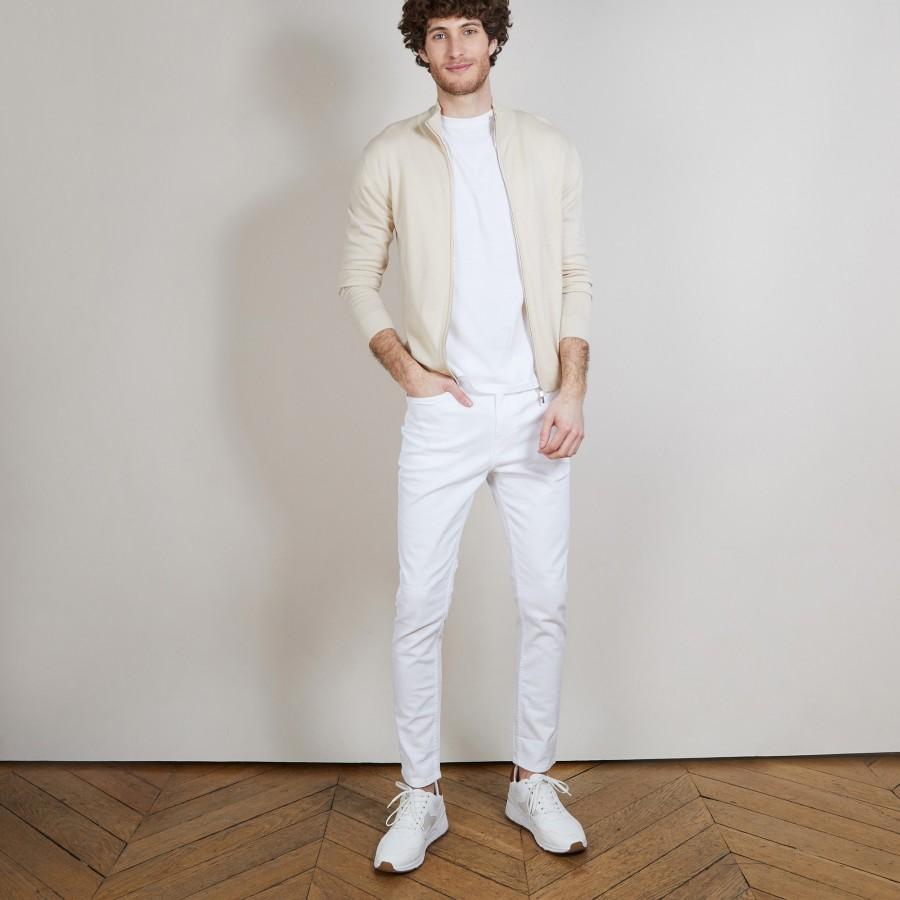 Gilet zippé en 100% laine mérinos - Bastian 6801 beige - 12 Beige clair