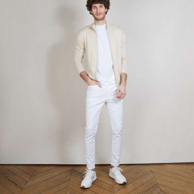 Men's zip-up merino wool cardigan - Bastian
