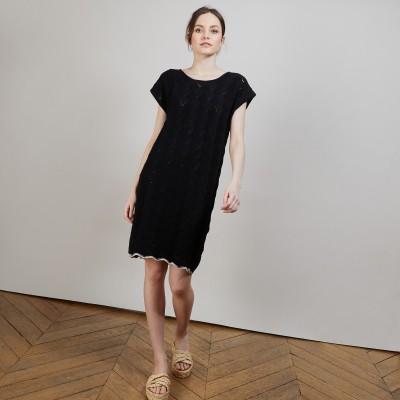 Short organic cotton dress - Agnès