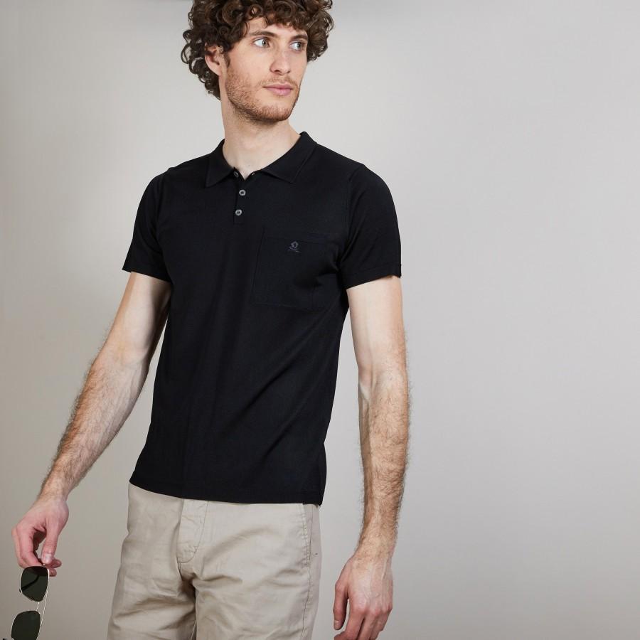 Polo en Fil Lumière poche avant - Blaze 6810 noir - 01 Noir