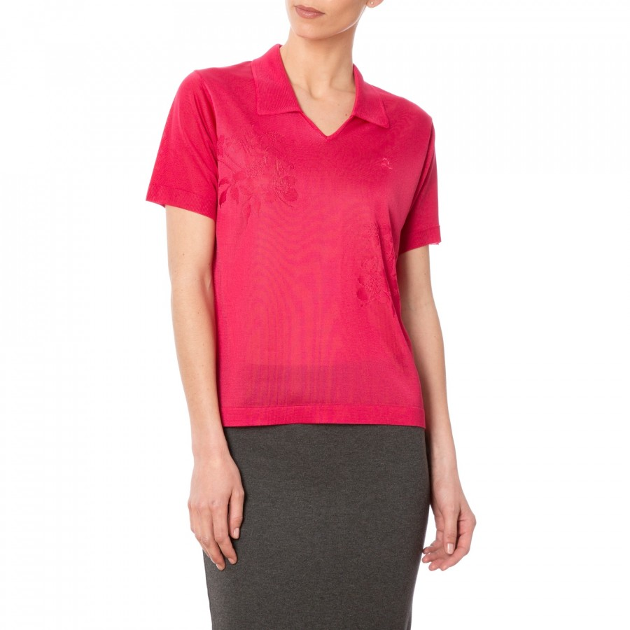 Polo manches courtes femme Fil Lumiere Dolly rouge