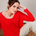 Pull col rond - Babouche 6880 PAVOT 52ROUGE