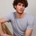 T-shirt col rond en lin flammé - Boséa 6811 gris clair - 11 Gris clair