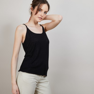 Flamed linen tank top - Bajah
