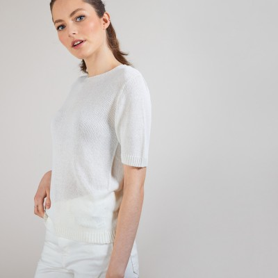 T-shirt with elbow sleeves - Bapteme