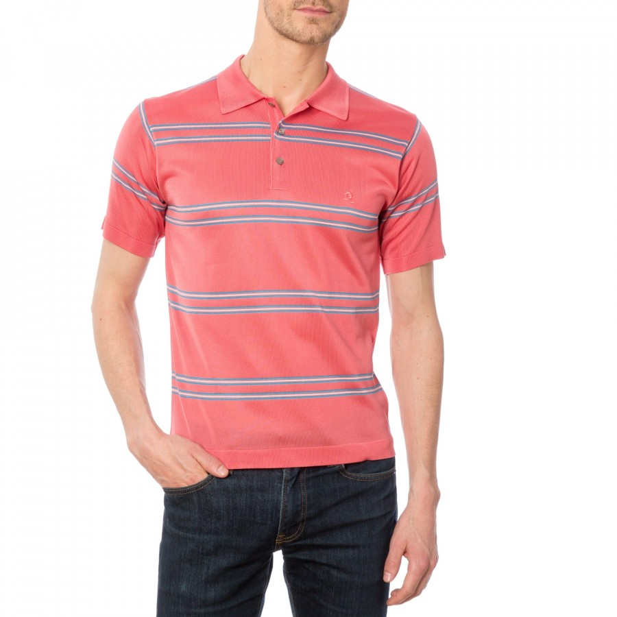 Man short sleeves polo in Fil Lumiere Domenico