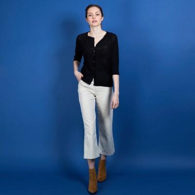 Women's crepe viscose cardigan - Boubou