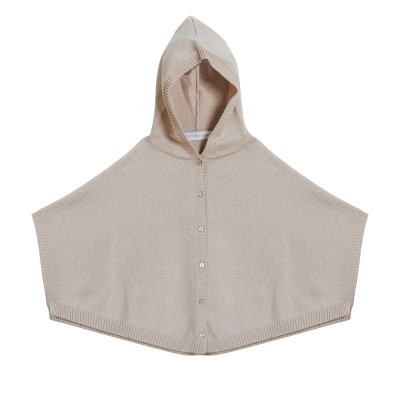 Baby poncho in 100% organic cotton - Flore
