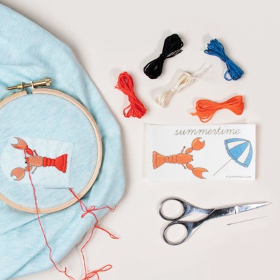 Embroidery kits - Crab