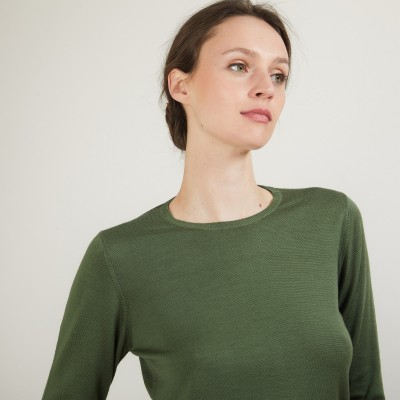 Round-neck wool sweater- Bérenice