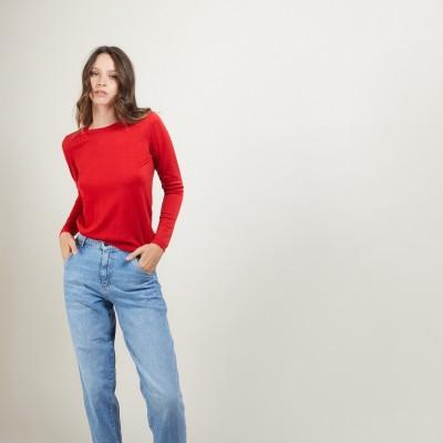 Round-neck merino wool sweater- Bérenice