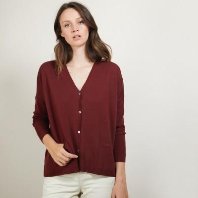 Cardigan oversize en laine - Bonte