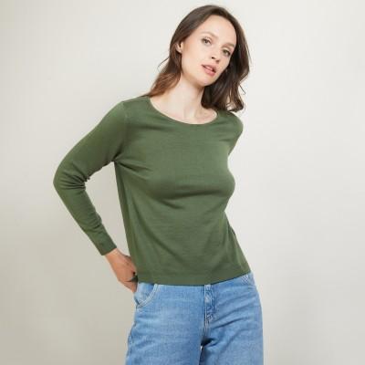 Round neck sweater 100% Wool - Betina