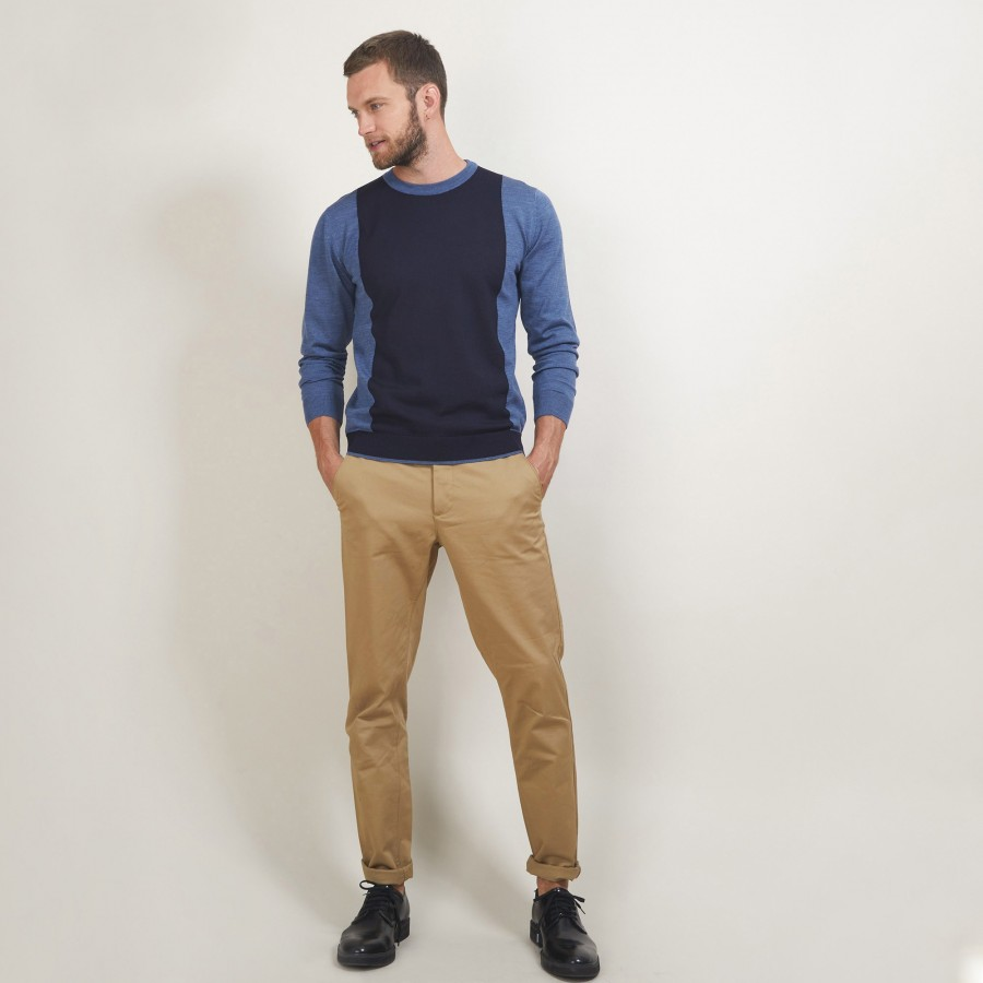 Two-tone wool sweater - Lasso