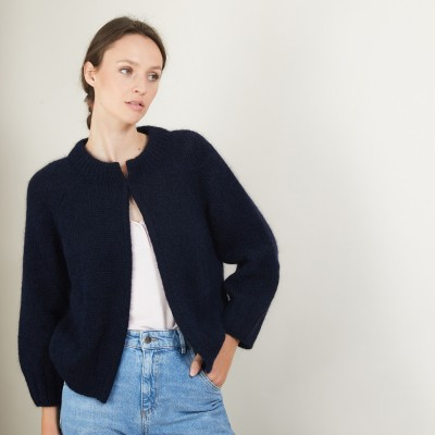 Mohair cardigan with pockets - Gillie