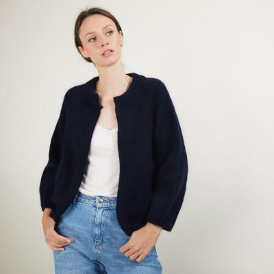 Gilet en mohair avec poches - Gillie