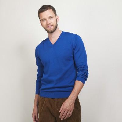 Cotton cashmere V-neck sweater - Brent
