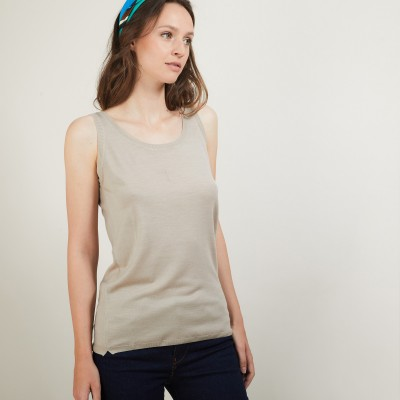 Round-neck wool tank top - Biella