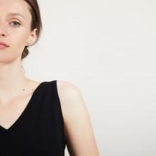 Débardeur col v en laine - Blanchette 7083 pivoine - 26 Rose foncé