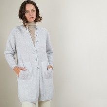 Long 2-pocket mohair cardigan - Gaya
