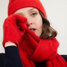 Gants en cachemire - Galene 7080 dahlia - 52 Rouge