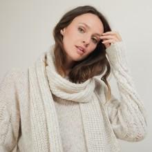 Viscose and baby alpaca scarf - Genu