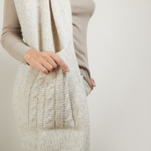 Scarf with pockets in viscose and baby alpaca - Giva