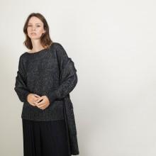 Echarpe avec poches en viscose et baby alpaga - Giva 7010 noir - 01 Noir