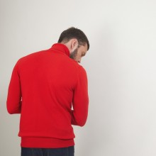 Pull col roulé en cachemire - Bruno 7080 dahlia - 52 Rouge