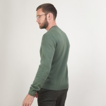 Pull col rond en coton cachemire - Burton 7050 bronze - 83 Kaki