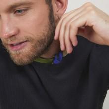 Pull col rond en coton cachemire - Burton 7010 noir - 01 Noir