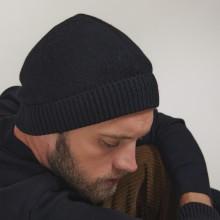 Bonnet en cachemire - Lalito 7010 noir - 01 Noir