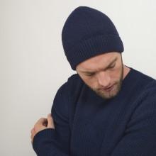Bonnet en cachemire - Lalito 7040 marine - 05 Bleu marine
