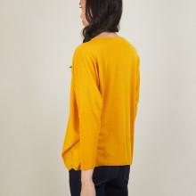 Pull manches chauve-souris en laine - Boxe 7060 safran - 89 Moutarde