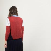 Cardigan col V en mohair - Flora
