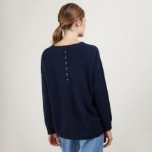 Cashmere buttoned sweater at the back - Bahia
