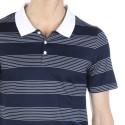 Striped short sleeve polo shirt Flavio