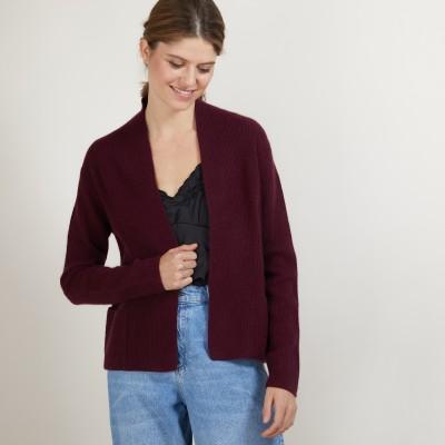 Short cashmere cardigan with pockets - Basma
