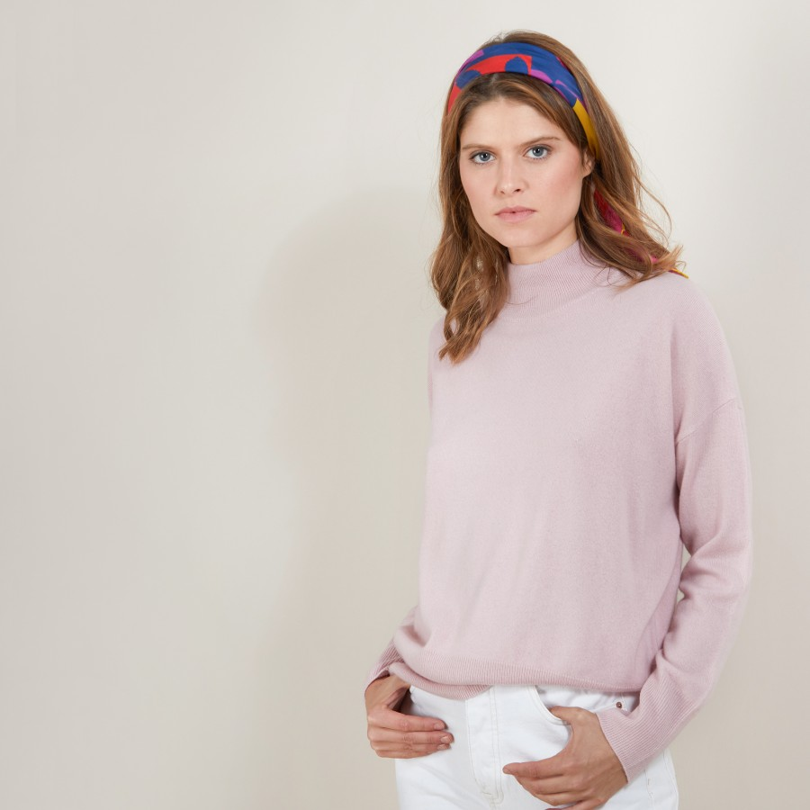 Cashmere sweater with high neck - Bassa