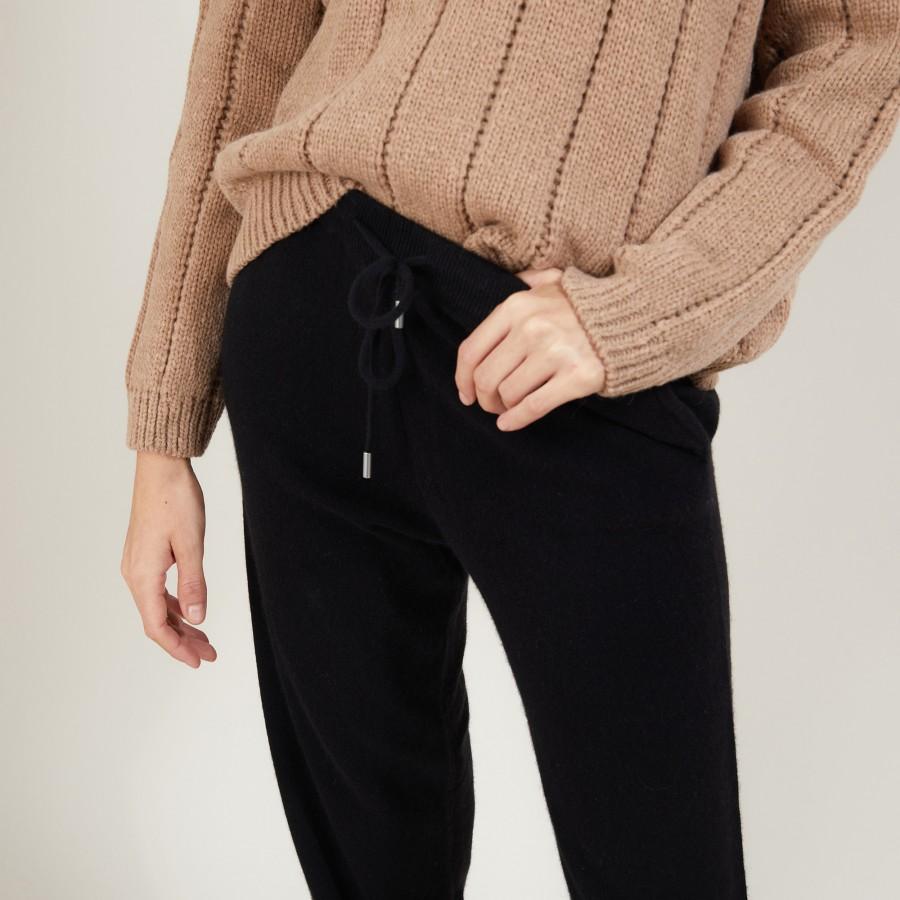 Pantalon en cachemire - Bora 7010 noir - 01 Noir