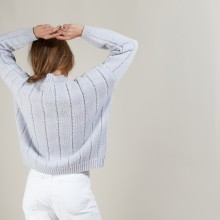 Round-neck wool and nylon sweater - Gustave