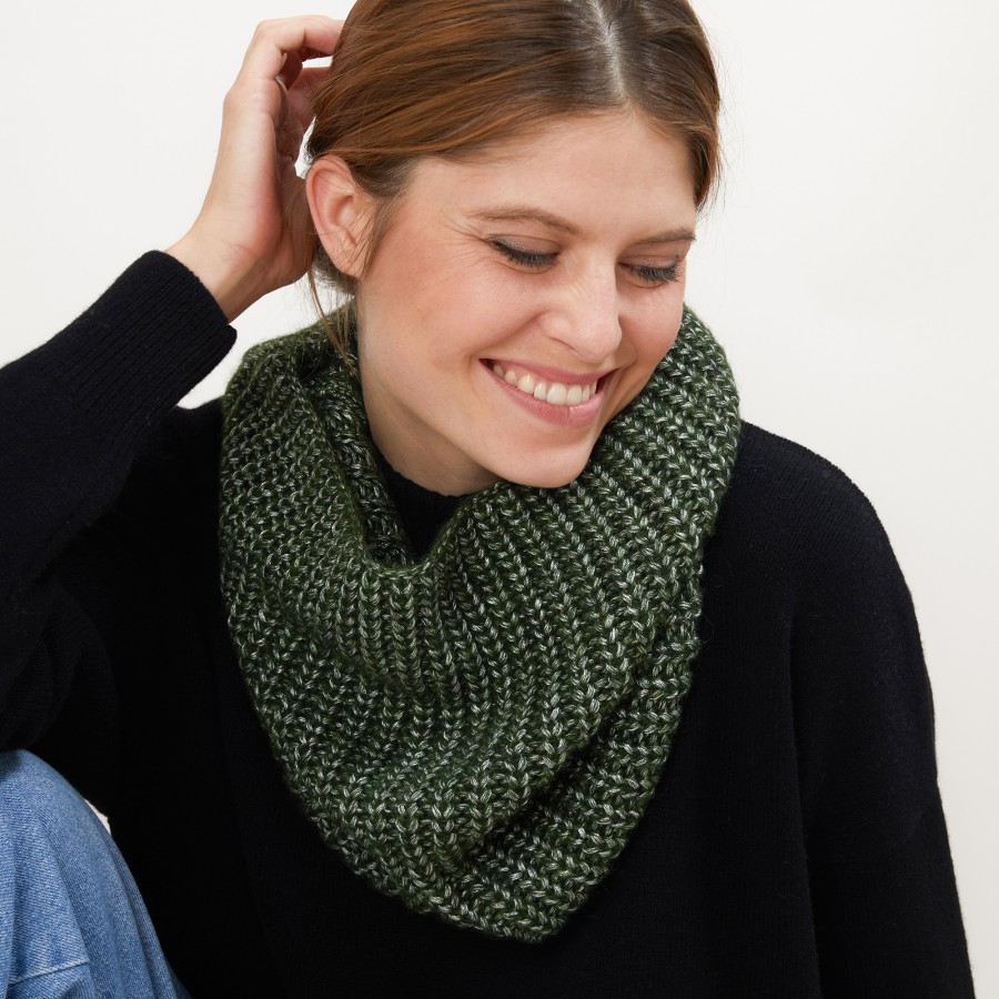 Viscose and baby alpaca neck warmer - Gulliver