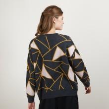 Pull à motifs géométriques en cachemire - Felix - 7103 dune/vapeur/arome - 13 Beige moyen